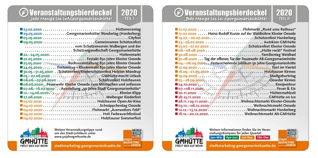 Bierdeckel 2020 © Stadtmarketing Georgsmarienhütte e.V.