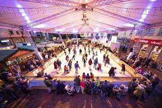 Foto - Eisbahn GMHütte on Ice 2019 © Stadtmarketingverein/ Fritz Schwarzenberger