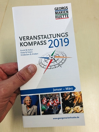 Kompass I/2019 Heft in Hand © Stadtmarketing Georgsmarienhütte e.V.