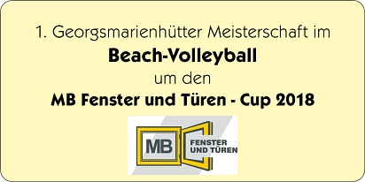 Logo Beach-Volleyball 2018 MB © Stadtmarketing Georgsmarienhütte e.V.