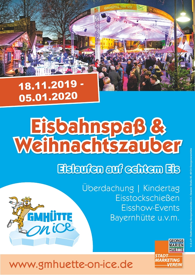 Plakat GMHütte on Ice 2019 © Stadtmarketing Georgsmarienhütte e.V.